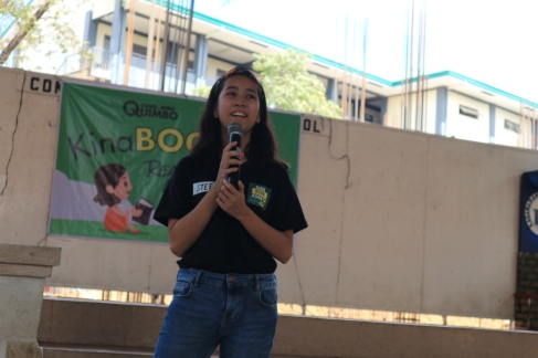 Stefi Alabastro giving the Opening Remarks during the KinaBOOKasan Launch